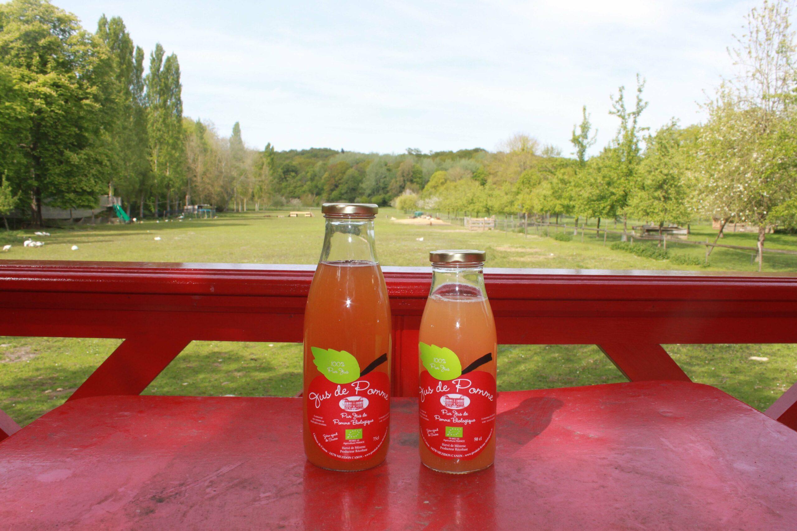 Jus de pommes bio 100% pur jus en direct producteur depuis la ferme du Domaine de Ouézy en Normandie